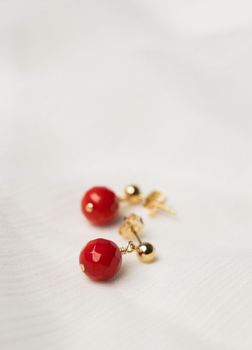 New Vintage by Kriss Coco earrings – coral