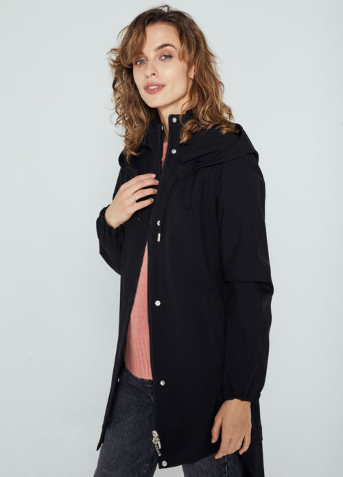 Ducktail UNISEX BLACK CITY RAINCOAT -20%