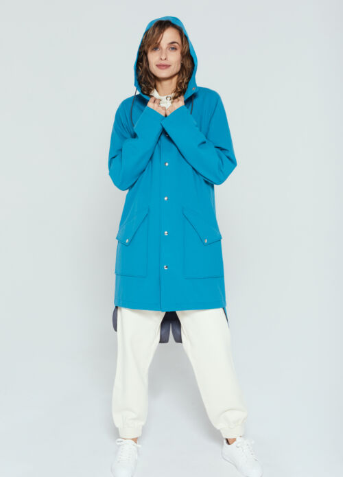 Ducktail UNISEX LIGHT BLUE CITY RAINCOAT M (naiste XL) -40%