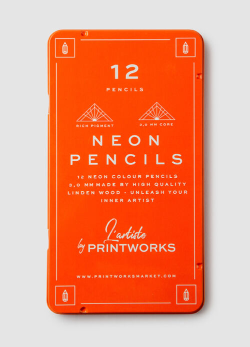 Printworks 12 Colour Pencils – Neon